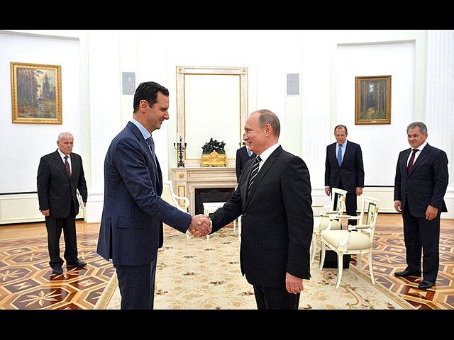 Башар Асад и Владимир Путин, Москва, 20 октября 2015 года