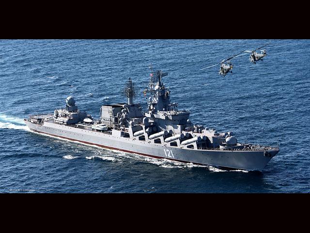 """Крейсер """"Москва"""", оснащенный системой ПВО """"Форт"""", аналогичной С-300, займет район в прибрежной части Латакии"""