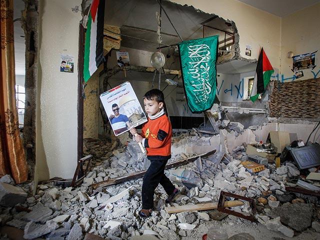 Разрушенный дом Ихаба Масуди. 31 марта 2016 года