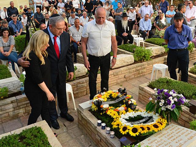 Биньямин Нетаниягу принял участие в церемонии памяти Йони Нетаниягу
