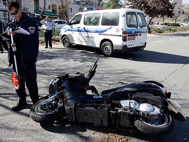 В Ришон ле-Ционе автомобиль сбил насмерть мотоциклиста