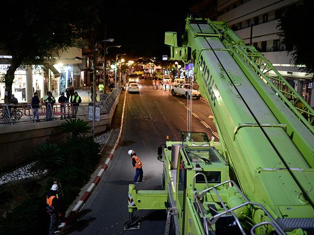 Из-за работ на площади Дизенгоф изменен порядок движения автотранспорта