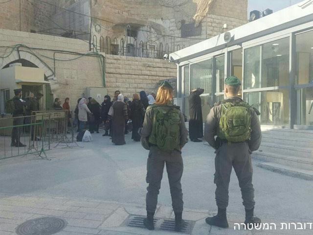 Возле Пещеры Патриархов задержан палестинский араб, вооруженный ножом