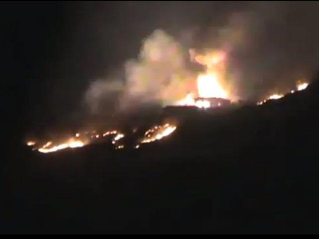 После воздушных ударов по целям в районе горного массива Каламун, Сирия (архив)