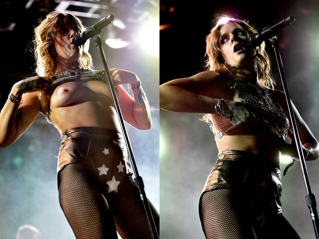 Шведская певица Туве Лу устроила стриптиз на сцене во время фестиваля Coachella