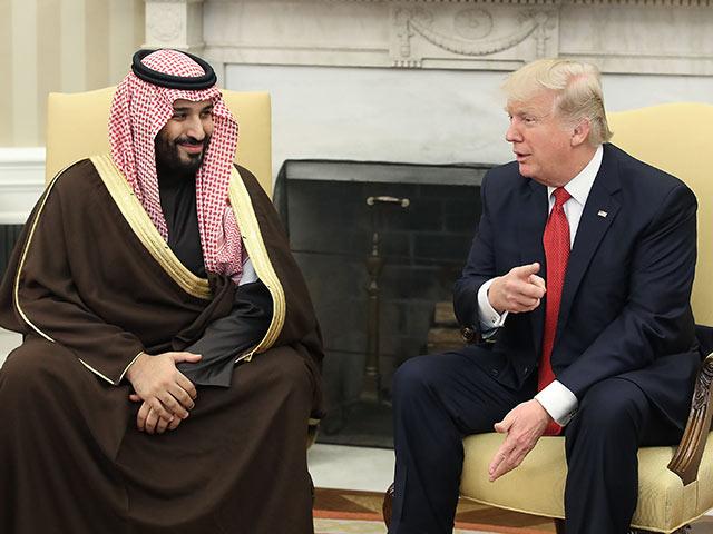 Министр обороны Саудовской Аравии Мухаммед бин Салман и Дональд Трамп