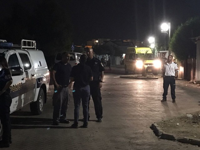 На месте происшествия в Сдероте. 11 июля 2017 года