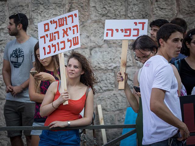 """""""Не против шаббата, против диктата"""": акция светских в Иерусалиме"""