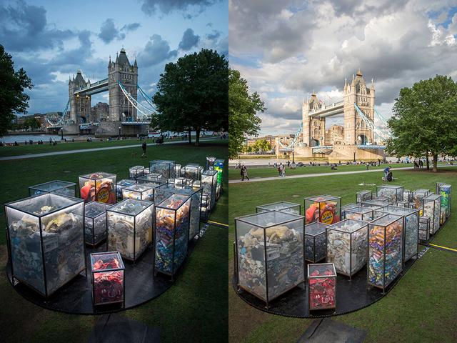 """Инсталляция """"Прах будущего"""". Лондон, 31 августа 2017 года"""