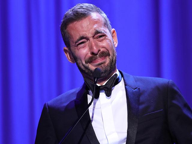 Ксавье Легран на церемонии награждения  74-ого Венецианского кинофестиваля. 9 сентября 2017 года