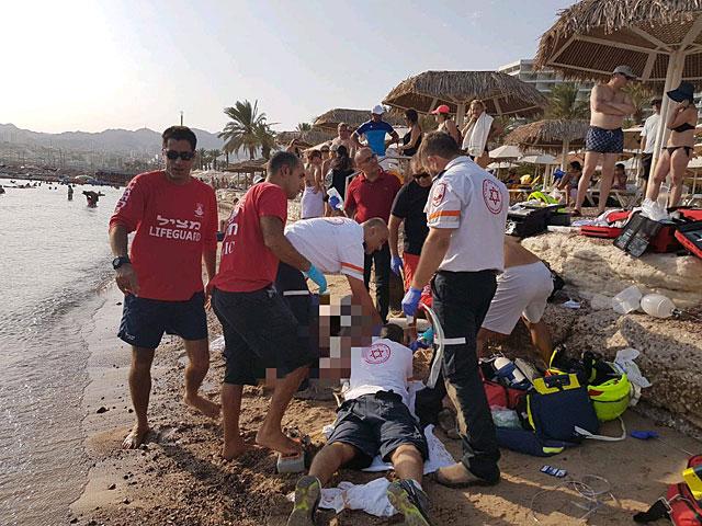 На эйлатском пляже на Красном море утонул мужчина
