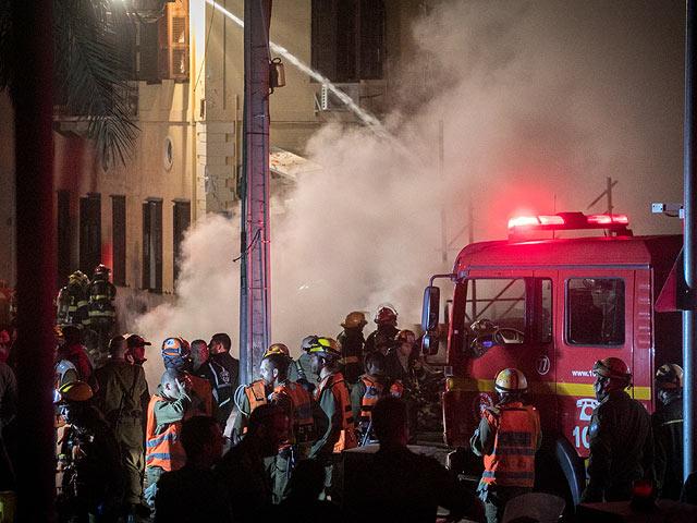 Взрыв дома и пожар в Яффо: уточненные данные о жертвах. Фото и видео