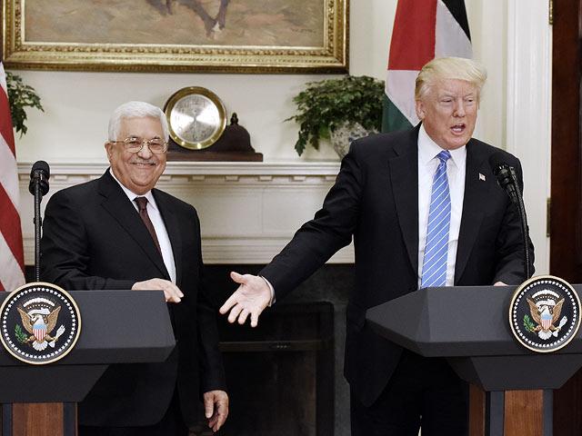 Махмуд Аббас и Дональд Трамп