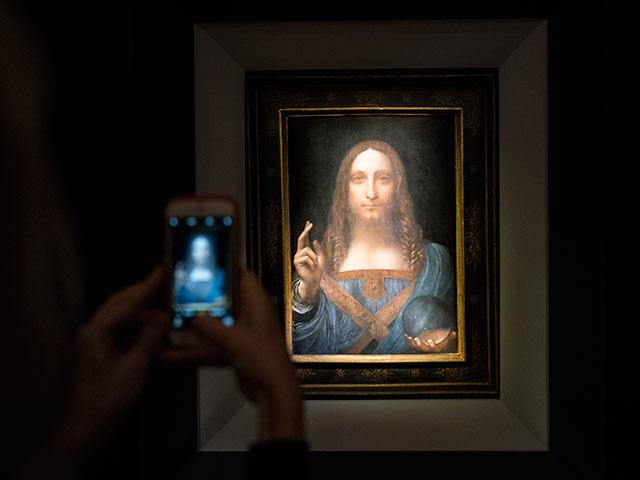 """Спаситель мира"" Леонардо да Винчи на аукционе Christie's, 15 ноября 2017 года"