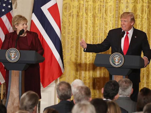 Эрна Сольберг и Дональд Трамп. Вашингтон, 10 января 2018 года