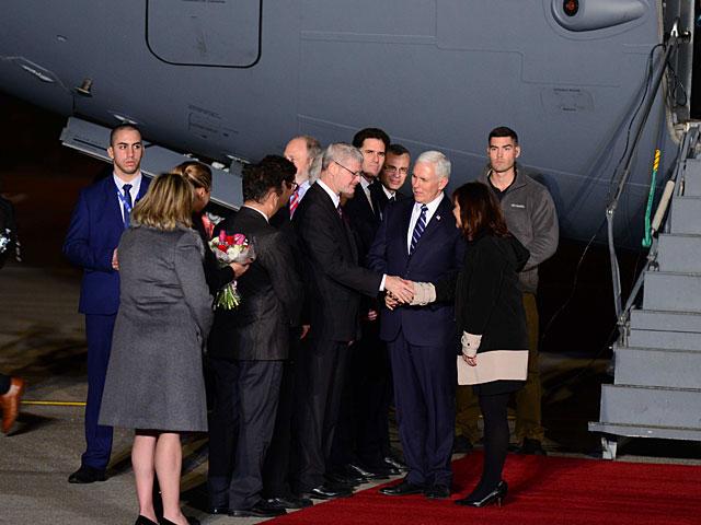Вице-президент США Майкл Пенс прибыл в Израиль