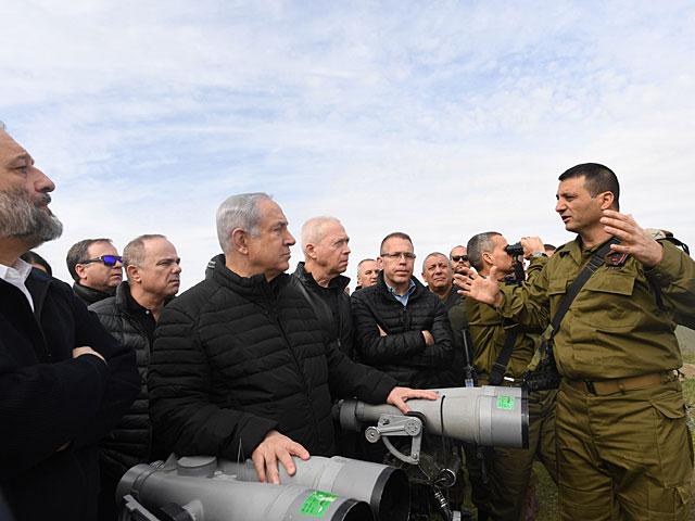 Члены военно-политического кабинета посетили северную границу Израиля
