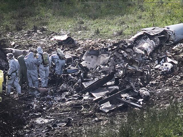 На месте падения F-16. 10 февраля 2018 года