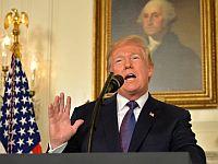 Президент США Дональд Трамп выступает с заявлением об ударе по целям в Сирии. 13 апреля 2018 года