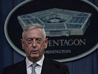 Министр обороны США Джеймс Мэттис выступает с заявлением об ударе по целям в Сирии. 13 апреля 2018 года