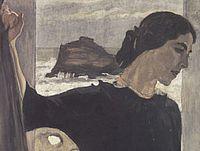 В.А.Серов. Портрет Марии Цетлиной. 1910