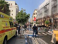 На месте пожара в Яффо. 2 сентября 2018 года