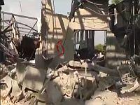 """""""Алюминиевый завод"""" на восточной окраине Латакии после ракетного удара"""
