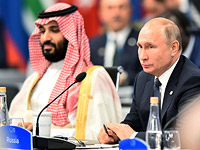 Саудовский наследный принц Мухаммад и президент РФ Владимир Путин
