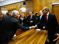 Сергей Лавров на встрече с участниками Межпалестинского диалога. Москва, 12 февраля 2019 года
