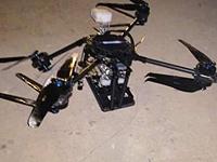 Обломки упавшего квадрокоптера