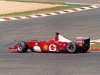 Ferrari F2002, на котором легендарный германский автогонщик завоевал пятый титул в карьере на чемпионате Формулы 1 в 2002 году