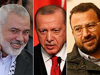 Исмаил Ханийя, Реджеп Тайип Эрдоган, Салех аль-Арури
