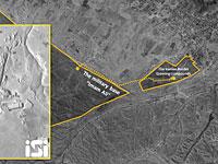 Позиции проиранских милиций в районе Аль-Букамаль (архивный спутниковый снимок)