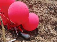 В нескольких городах обнаружены взрывные устройства, доставленные из Газы воздушными шарами