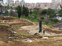 """Около монумента """"Свеча памяти"""". Иерусалим, 1 февраля 2020 года"""