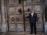 Из-за эпидемии коронавируса закрылся Храм Гроба Господня