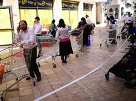 Очередь в супермаркет (иллюстрация)