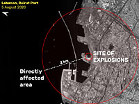 Компания ImageSat опубликовала спутниковые снимки Бейрута до и после взрыва