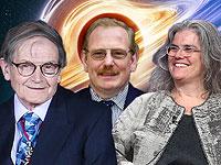 Лауреаты Нобелевской премии 2020 года по физике (слева направо): Роджер Пенроуз (Великобритания), Райнхард Генцель (Германия/США) и Андреа Гез (США)