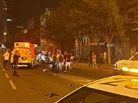 В Тель-Авиве в результате аварии тяжелые травмы получил мотоциклист