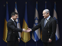 Президент Украины Владимир Зеленский и премьер-министр Израиля Биньямин Нетаниягу в январе 2020 года