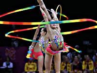 Лондонская олимпиада. Выступление сборной России, в том числе Каролины Севастьяновой, в групповом многоборье