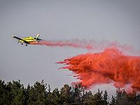Лесной пожар в районе Бейт-Шемеша, в тушении участвуют самолеты пожарной службы