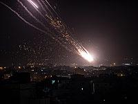 Массированный обстрел центра Израиля