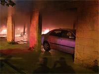 В Хайфе на стоянке загорелись автомобили, пострадали около 60 человек
