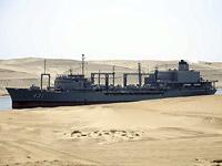 Иранский корабль Kharg в Суэцком канале в 2011 году