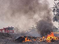 Возобновился пожар, накануне бушевавший рядом с поселком Цур-Адаса