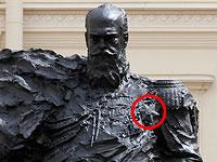 С открытого в Гатчине памятника Александру Третьему убрали шестиконечную звезду