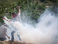 """В """"акциях протеста"""" против строительства форпоста Эвиатар участвовали сотни арабов"""