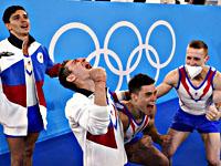Олимпиада. Спортивная гимнастика. Россияне победили в командном многоборье
